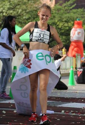 Atletas con Porvenir en la carrera atlética de Soacha