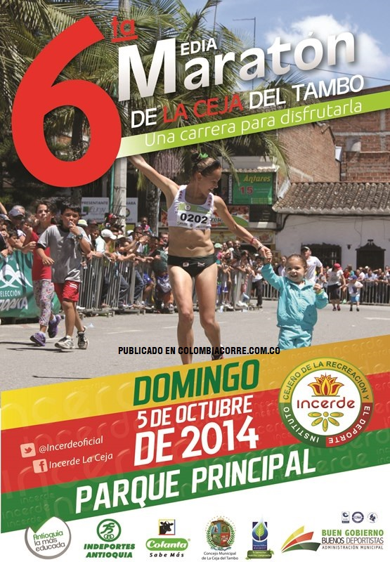 Media maratón de La Ceja abre inscripciones
