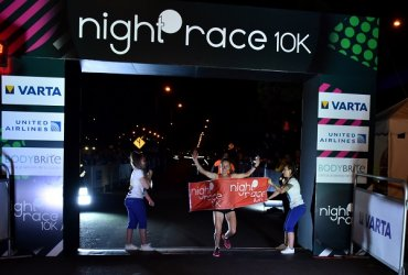 Martha Ronceria y William Rodríguez ganaron la Night Race 10k