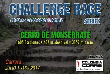 Asi será el Challenge Race de Monserrate