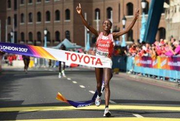Rose Chelimo, campeona mundial de maratón en Londres
