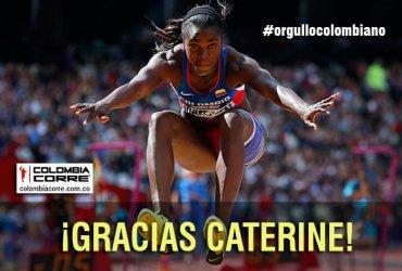 Caterine Ibargüen subcampeona mundial en Londres