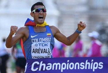 Eider Arévalo campeón mundial de marcha 20 km en Londres 2017