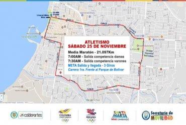 Así será el circuito de media maratón para el cierre del atletismo Bolivariano