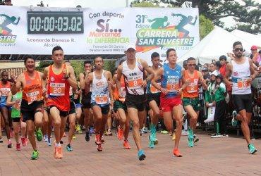 Colombia y Perú repartieron honores en la Carrera San Silvestre de Chía