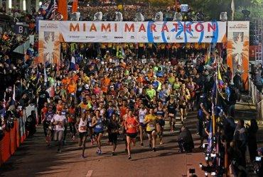 Más de 21000 atletas corrieron la Maratón de Miami 2018