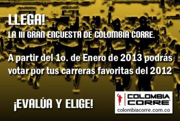 Ya viene la tercera GRAN ENCUESTA DE COLOMBIA CORRE 2013