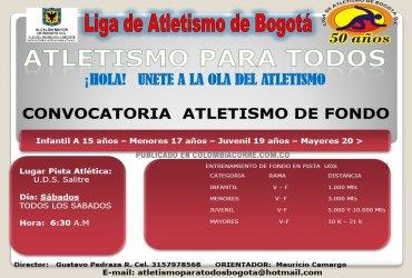 ATLETISMO PARA TODOS en la Liga de Bogotá