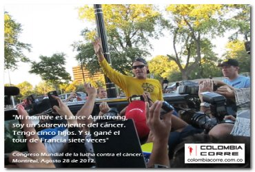 COLOMBIA CORRE acompaño a Lance Armstrong en Montreal