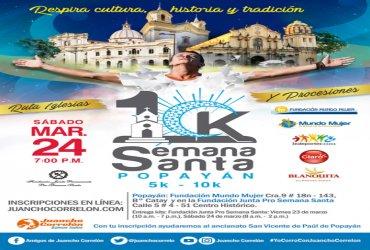 Llega la segunda versión de la 10k Semana Santa en Popayán
