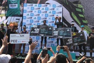 La colombiana Paola Fierro tercera en la maratón de Lima