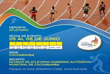 Resultados Atletismo Juegos Suramericanos 2018 - Finales