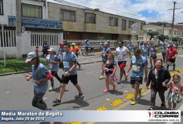 ¿Cuántos corredores finalizaron la media maratón de Bogotá 2018?