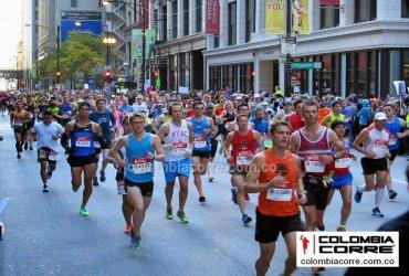 289 colombianos finalizaron la maratón de Chicago 2018