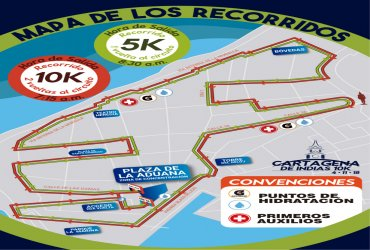 Se anuncia el recorrido de la carrera Cartagena de Indias 10k