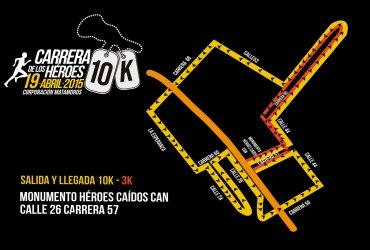 Recorrido Carrera de los Héroes 2015 en Bogotá