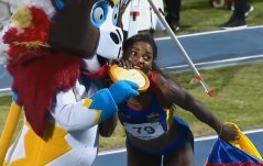 Caterine Ibargüen salto largo juegos centroamericanos y del caribe barranquilla