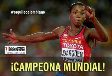 Caterine Ibargüen campeona del mundo en Beijing