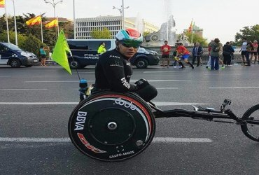 El colombiano Francisco Sanclemente campeón paralimpico en la maratón de Madrid
