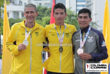 Colombia logra un oro y dos medallas de plata en la media maratón bolivariana