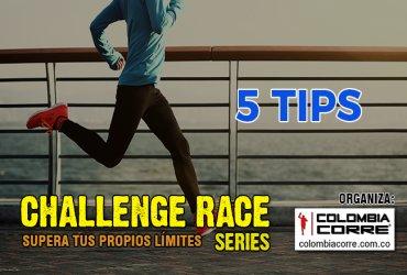Cinco consejos para ayudarte a entrenar para el Challenge Race Series