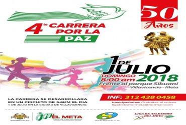 Villavicencio correrá por la Paz el próximo domingo