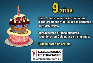 Colombia Corre cumple nueve años