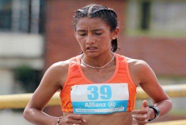 Angie Orjuela este domingo en la Maratón de Houston