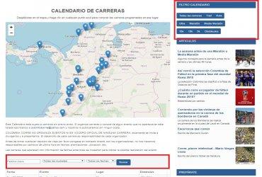 Colombia Corre ahora con nuevo Calendario de Carreras