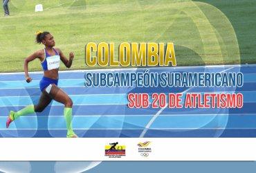 Colombia, subcampeón suramericano de atletismo Sub 20