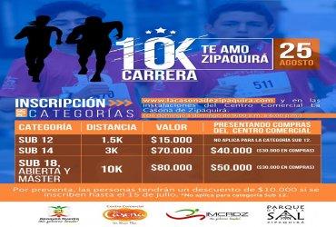Llega la carrera 10k Te Amo Zipaquirá