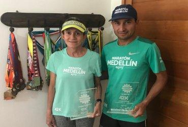 Carmenza Morales y Ricardo Cardeño, dos atletas colombianos unidos por el amor en pareja y la pasión por el deporte