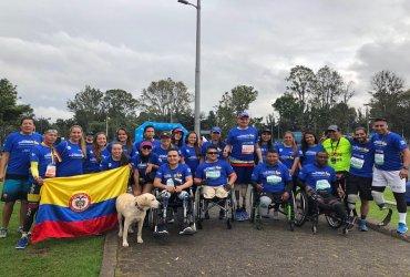 Policias victimas de minas antipersonal participarán este domingo en la Maratón Medellin