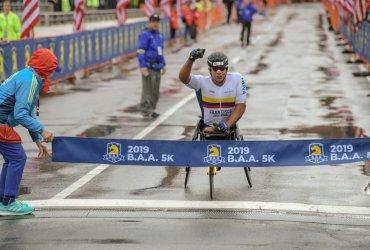Francisco Sanclemente este domingo en la Maratón de Berlín
