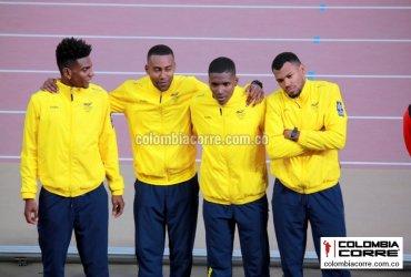 Colombia finalizó cuarto en la final de los relevos 4x400 en el mundial de atletismo