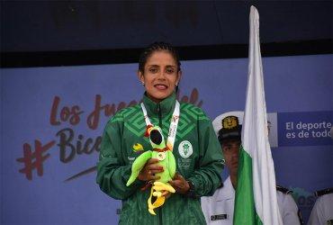 Una gorra con hielo, el motor que impulsó a Sandra Rosas en la maratón