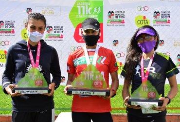 Romero y Tellez vencieron en la Carrera Atlética Nacional 11K de Cota