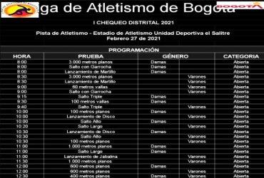 Con el chequeo distrital de la Liga de Bogotá, se dará inicio a la temporada atlética de pista y campo en Colombia.
