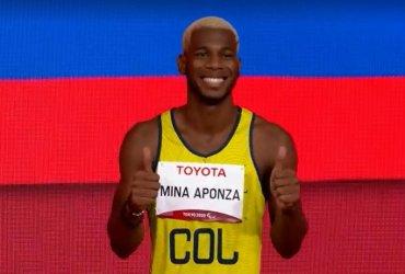 Jean Carlos Mina gana medalla de bronce en los 100 metros T13 en Tokio