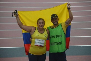 Yesenia Restrepo gana medalla de bronce en lanzamiento de Disco en Tokio